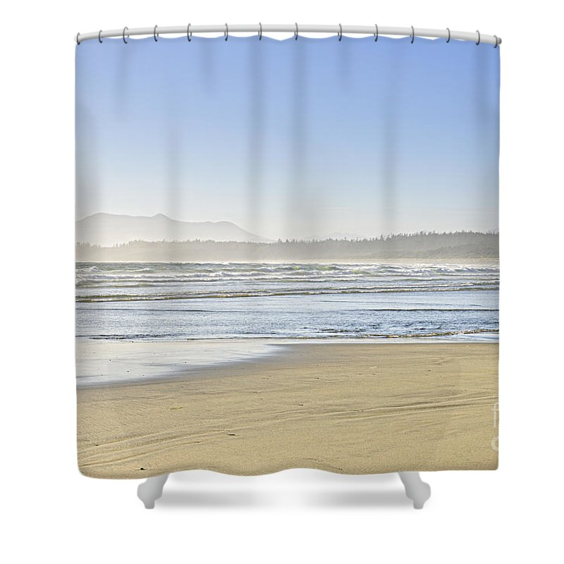 Pacific Shower Curtain featuring the photograph Coast Of Pacific Ocean On Vancouver Island by Elena Elisseeva