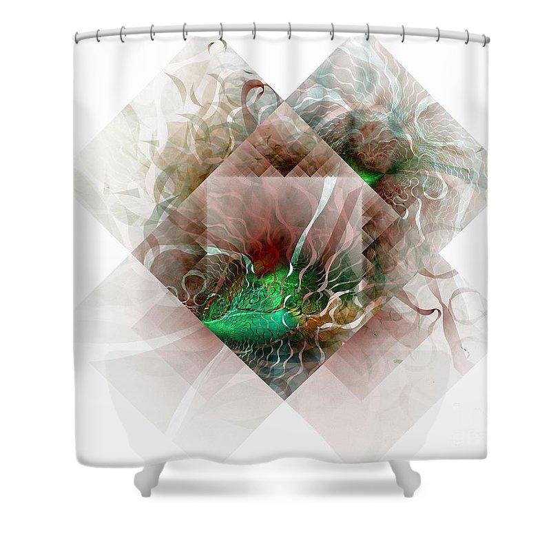 Digital Art Shower Curtain featuring the digital art Coastal Memoirs by Amanda Moore