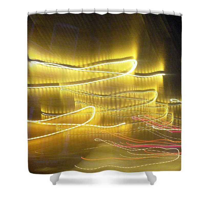 Photograph Shower Curtain featuring the photograph Coaster Of Lights Two by Thomas Valentine