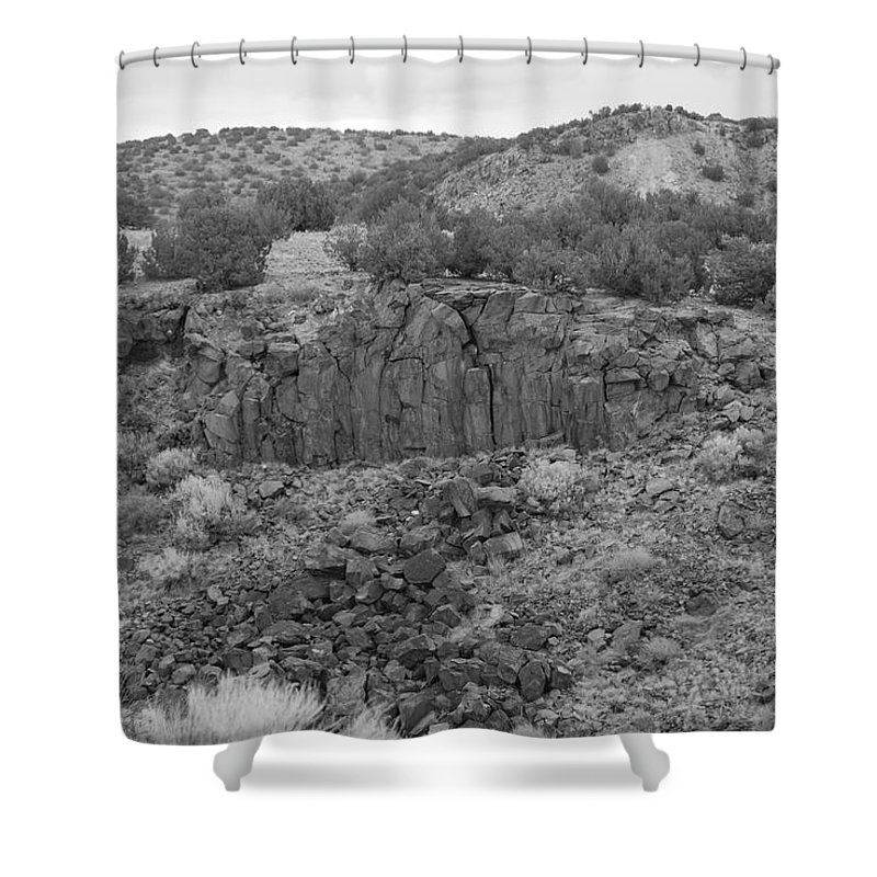 Rocks Shower Curtain featuring the photograph Cochiti Rocks by Rob Hans