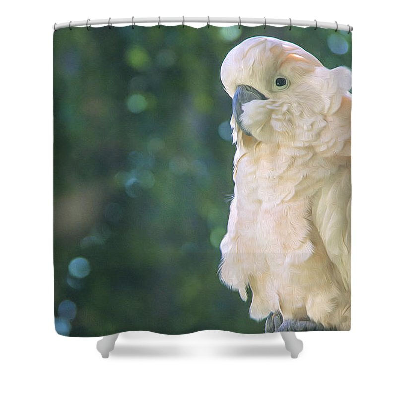 Cockatoo Shower Curtain featuring the digital art Cockatoo by Mark Van Martin