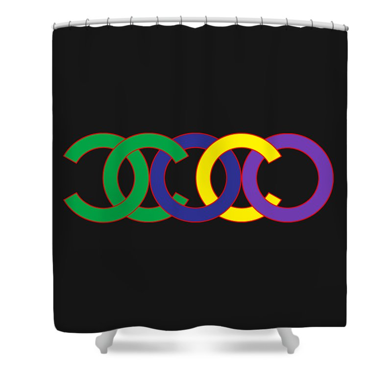 Chanel Shower Curtain Featuring The Painting Coco 5 By Nikita