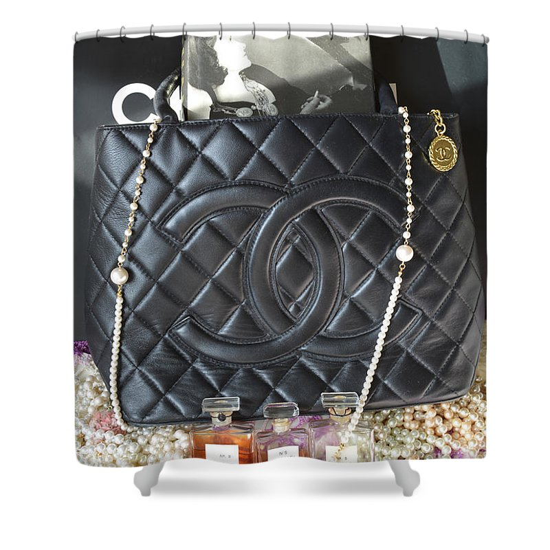 Chanel Shower Curtain Featuring The Photograph Coco Legacy By To Tam Gerwe