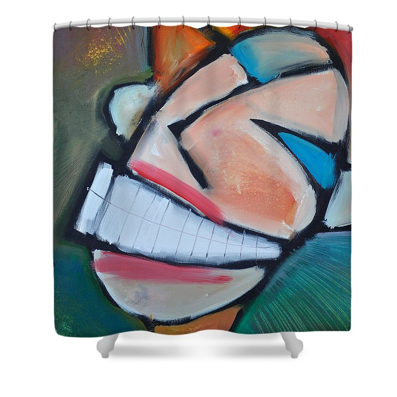 Smile Shower Curtain featuring the painting Coconut Bread by Tim Nyberg
