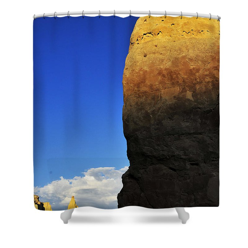 Coercion Shower Curtain featuring the photograph Coercion by Skip Hunt