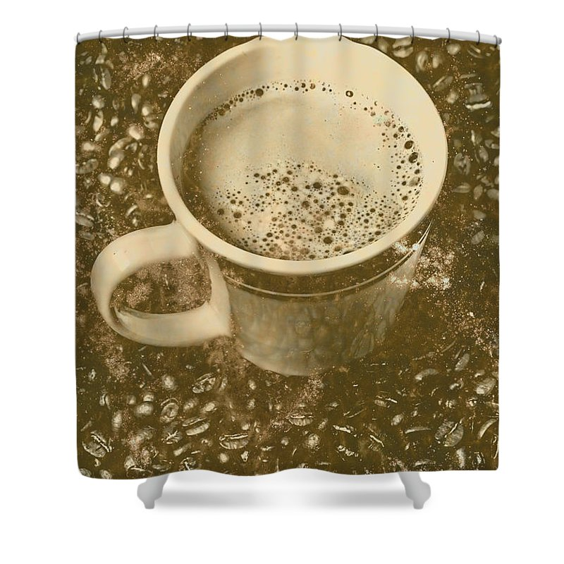 Vintage Shower Curtain featuring the photograph Coffee And Nostalgia by Jorgo Photography - Wall Art Gallery