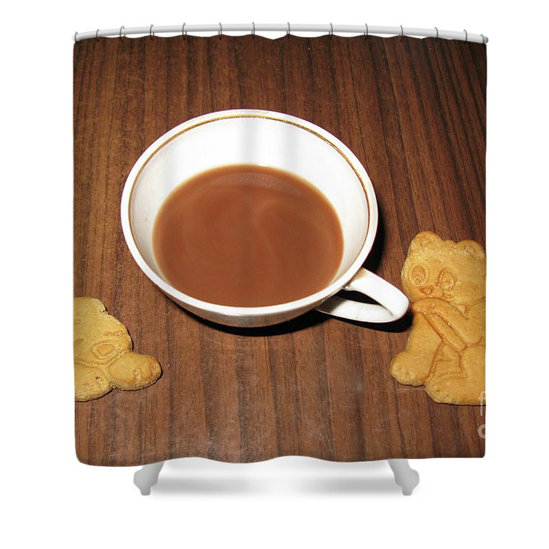 Coffee Shower Curtain featuring the photograph Coffee For Two. Maybe by Ausra Huntington nee Paulauskaite