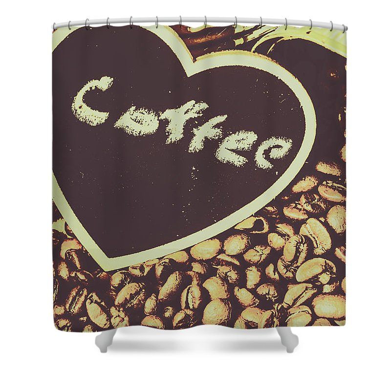 Bean Shower Curtain featuring the photograph Coffee Heart by Jorgo Photography - Wall Art Gallery