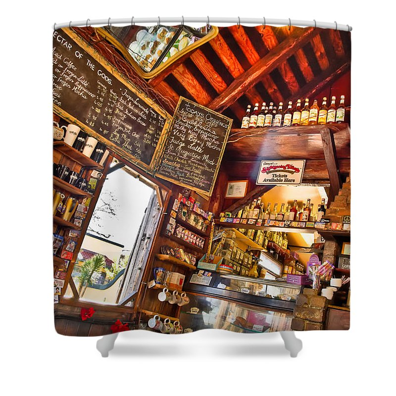 Coffeeshop Shower Curtain featuring the photograph Coffee House by Rich Leighton