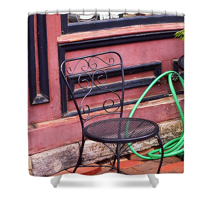 America Shower Curtain featuring the photograph Jonesborough Tennessee - Coffee Shop by Frank Romeo