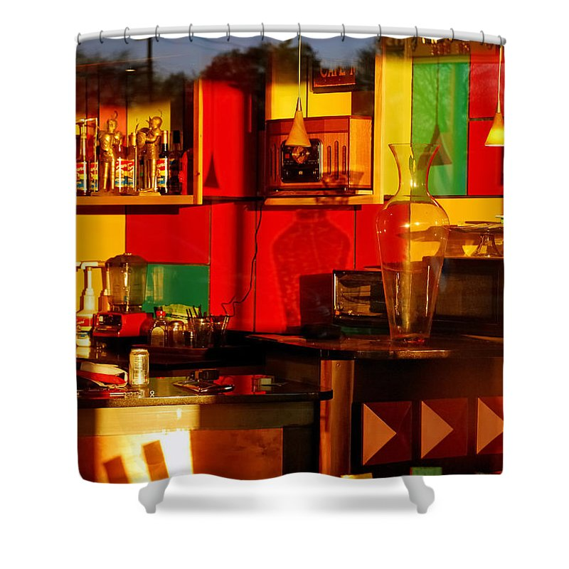 Skip Hunt Shower Curtain featuring the photograph Coffee Shop by Skip Hunt