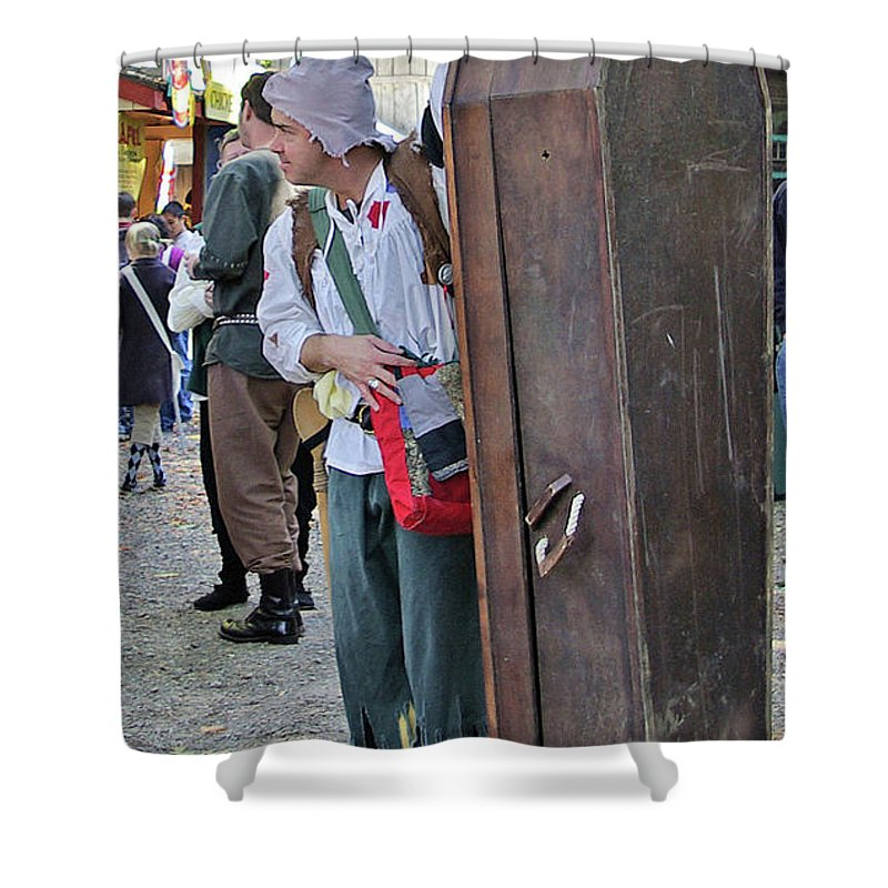 2d Shower Curtain featuring the photograph Coffin For Sale by Brian Wallace
