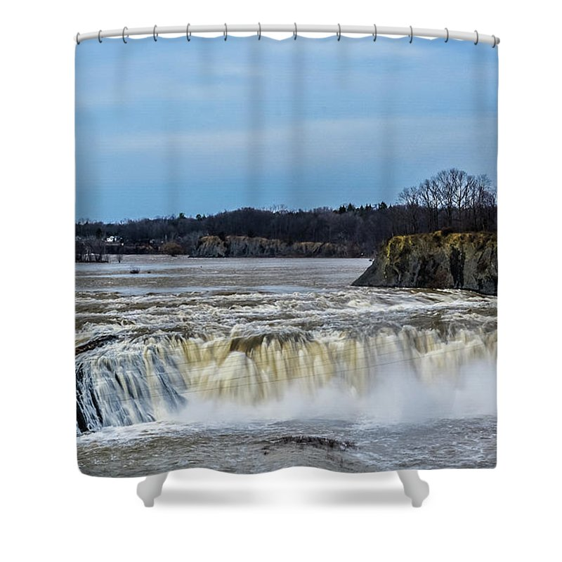 Cohoes N.y. Shower Curtain featuring the photograph Cohoes Falls New York by George Fredericks