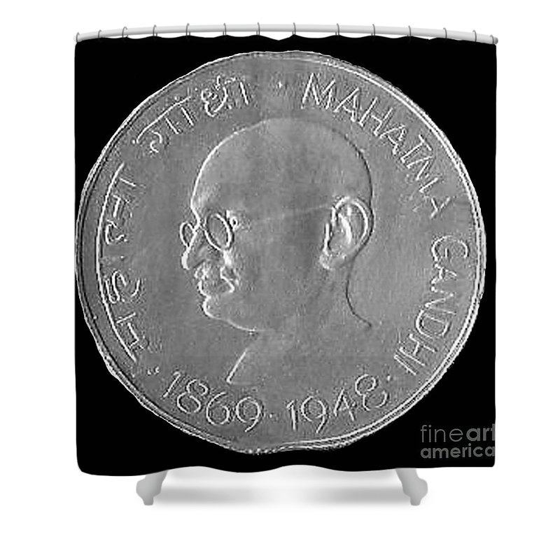 Currency Shower Curtain featuring the photograph Coin India by Jost Houk
