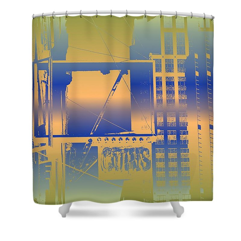 Seattle Shower Curtain featuring the digital art Coins by Tim Allen