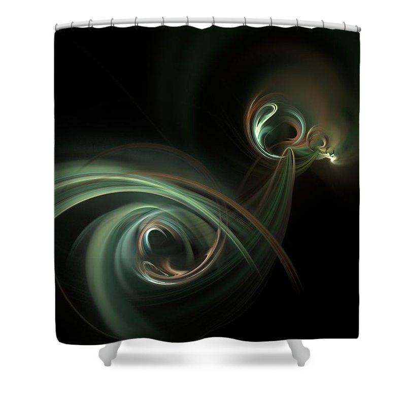 Fantasy Shower Curtain featuring the digital art Coitus by David Lane