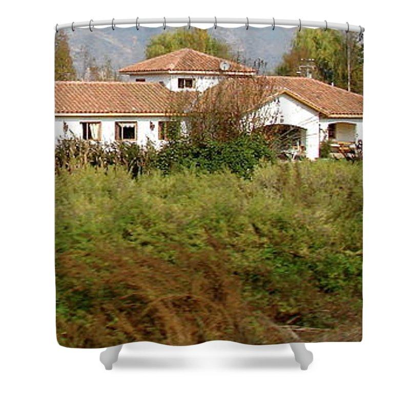Colchagua Shower Curtain featuring the photograph Colchagua Valley Villa by Brett Winn