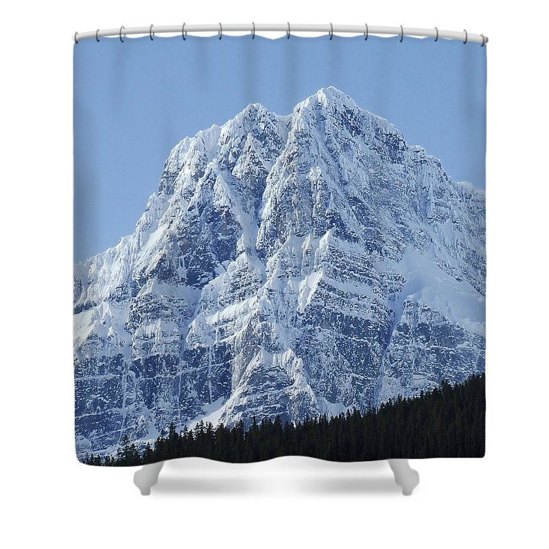 Cold Shower Curtain featuring the photograph Cold Mountain- Banff National Park by Tiffany Vest