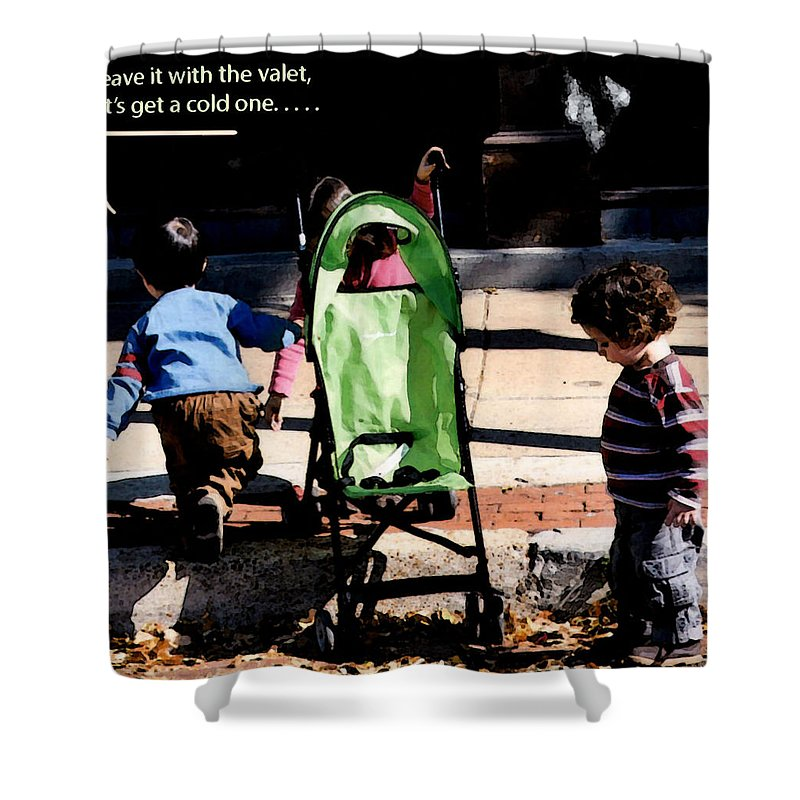 Youngsters Shower Curtain featuring the photograph Cold One by Leon Hollins III
