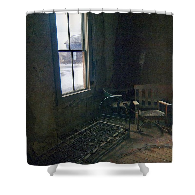 Bodie California Shower Curtain featuring the photograph Cold Window Light by Norman Andrus