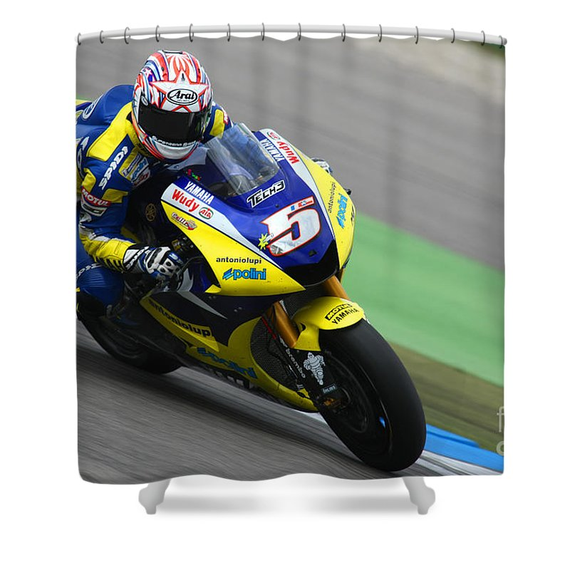 Netherlands Shower Curtain Featuring The Photograph Colin Edwards By Henk Meijer Photography