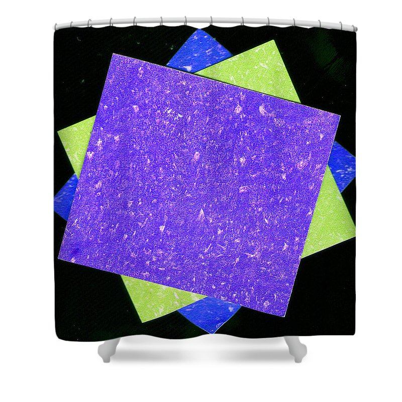 Collage Shower Curtain featuring the mixed media Collage 3 by Wayne Potrafka
