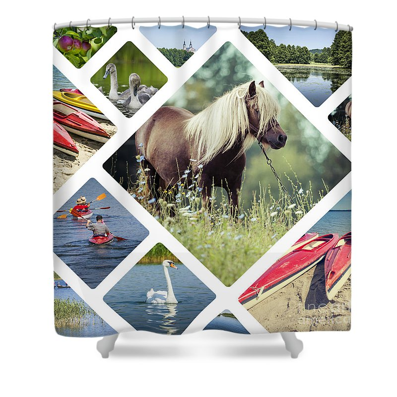 Poland Shower Curtain featuring the photograph Collage Of Suwalki by Mariusz Prusaczyk