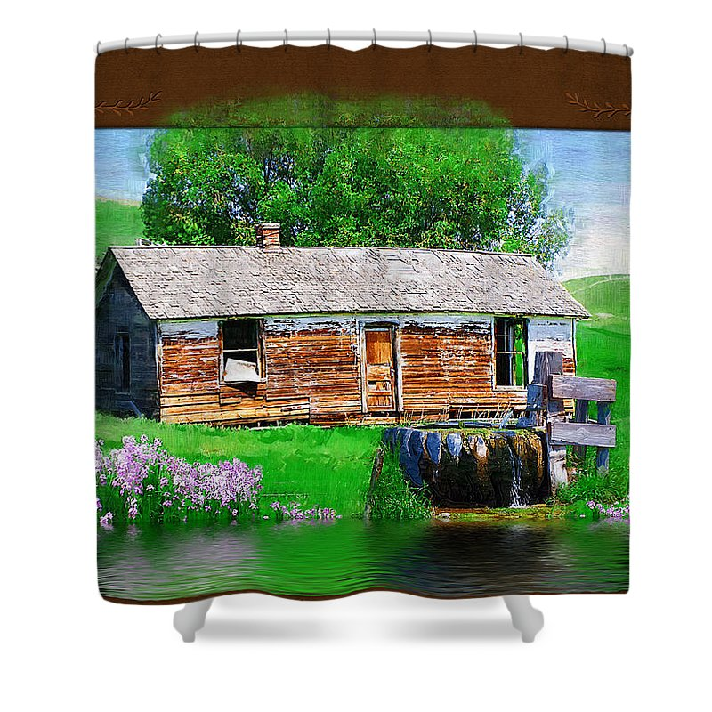 Collage Shower Curtain featuring the photograph Collage by Susan Kinney