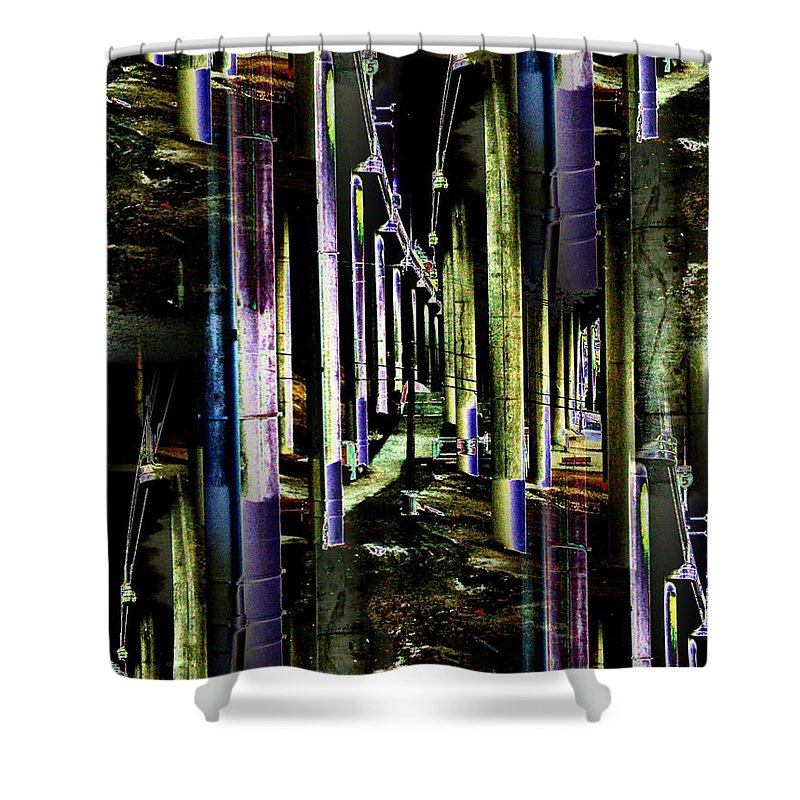 Seattle Shower Curtain featuring the photograph Collonade Park by Tim Allen