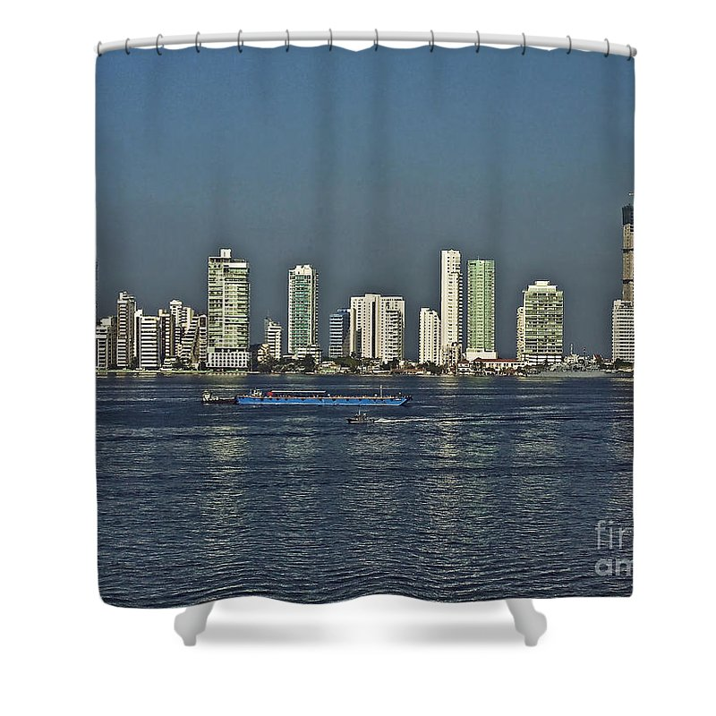 Architecture Shower Curtain featuring the photograph Colombia019 by Howard Stapleton