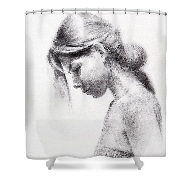 Girl Drawings Shower Curtains