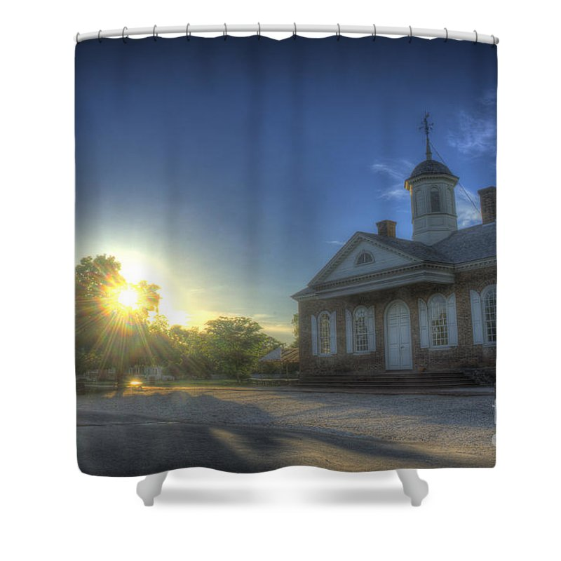 Colonial Williamsburg Shower Curtain featuring the photograph Colonial Courthouse by Luke Parrott
