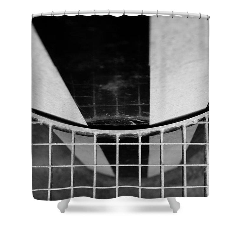 Colonnes De Buren Shower Curtain featuring the photograph Colonnes De Buren by Sophia Pagan
