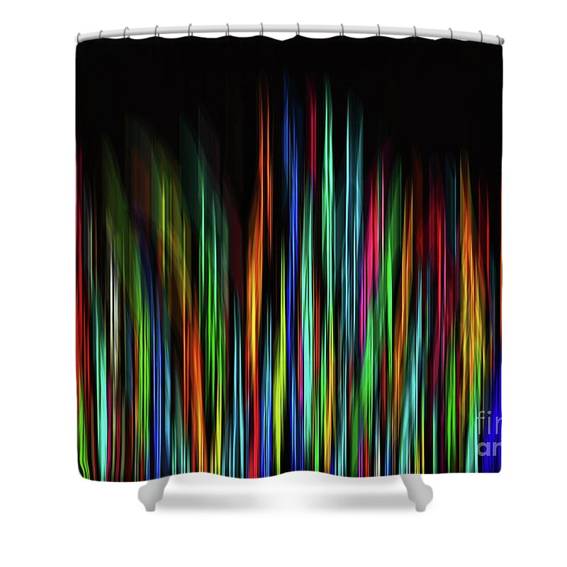Colorful Shower Curtain featuring the digital art Color Abstract 3.31 by L Bee