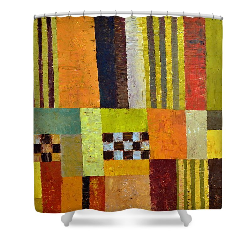 Colorful Shower Curtain featuring the painting Color And Pattern Abstract by Michelle Calkins