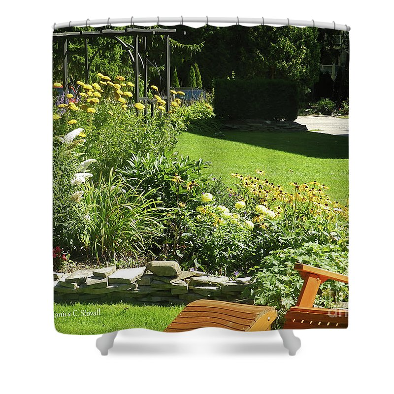Garden Flowers Shower Curtain featuring the photograph Color Combination Flowers Cc65 by Monica C Stovall