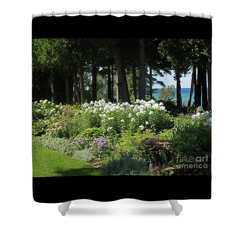 Garden Flowers Shower Curtain featuring the photograph Color Combination Flowers Cc74 by Monica C Stovall