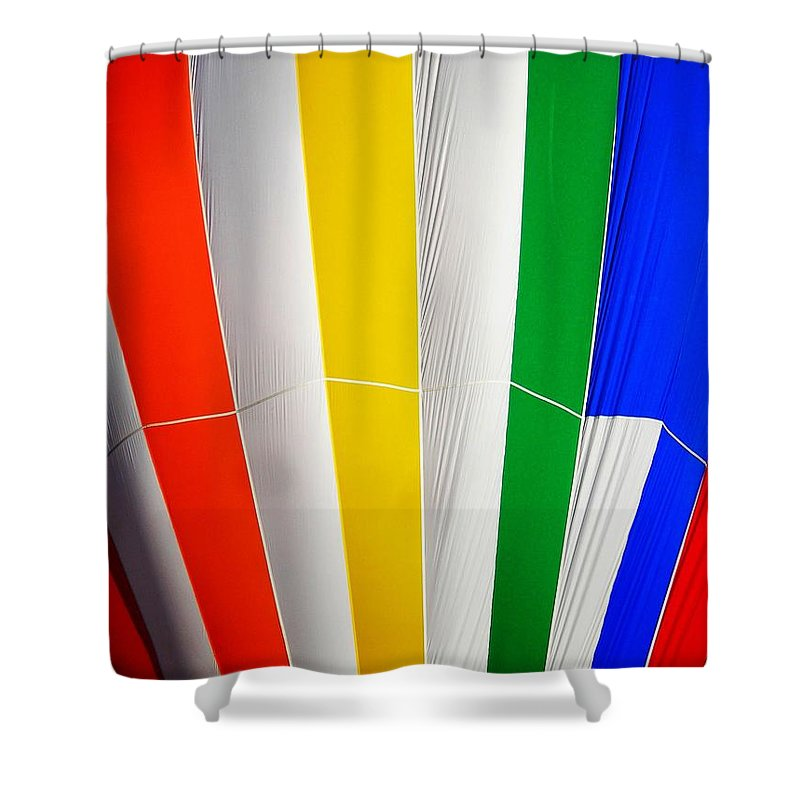 Hot Shower Curtain featuring the photograph Color In The Air by Juergen Weiss