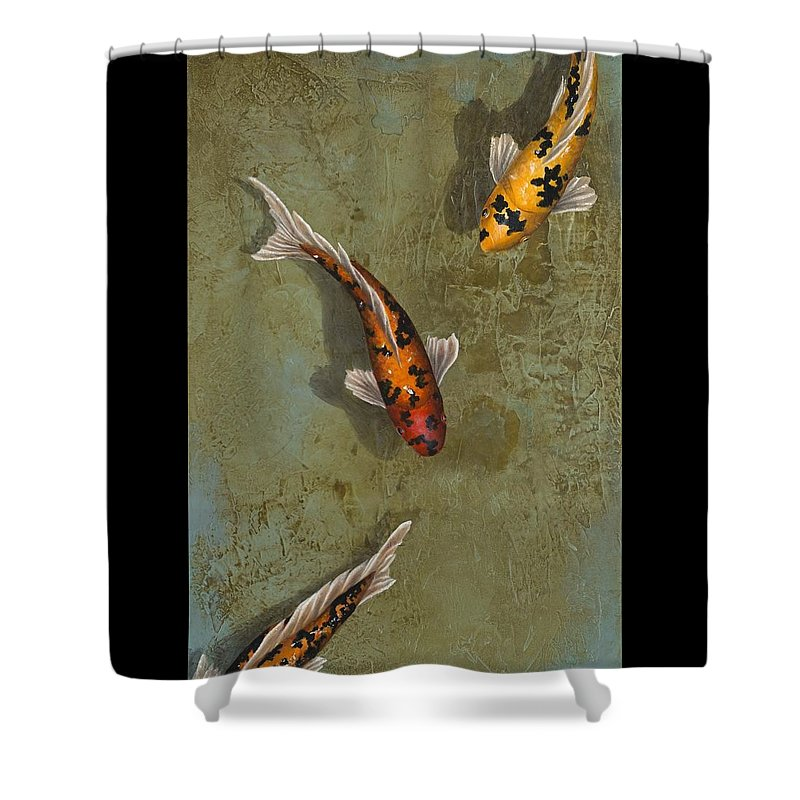 Koi Shower Curtain featuring the painting Color Me Happy by Kimberly Fox