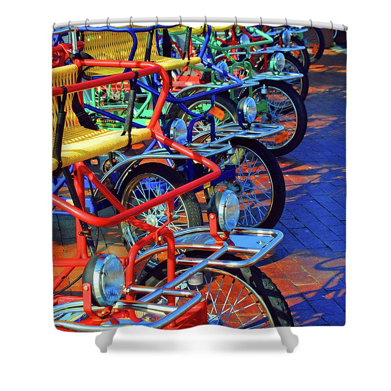 Bikes Shower Curtain featuring the photograph Color Of Bikes by Jost Houk