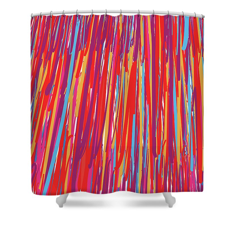 Colorful Shower Curtain featuring the digital art Color Slide by Winston Rudolph Jr