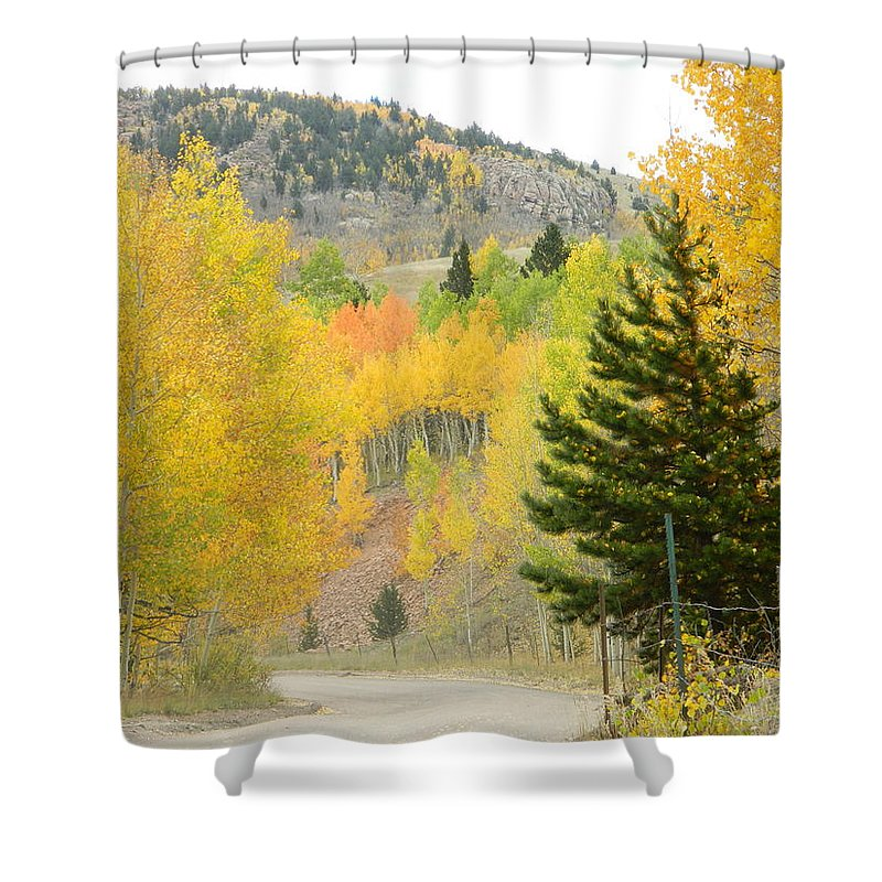 Shower Curtain featuring the photograph Colorado Colors by Darlene Blaher