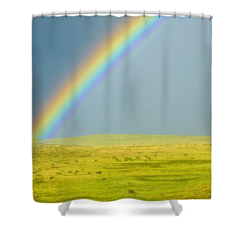 Colorado Shower Curtain featuring the photograph Colorado Rainbow by Marilyn Hunt