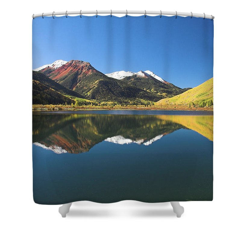 Colorado Shower Curtain featuring the photograph Colorado Reflections by Steve Stuller