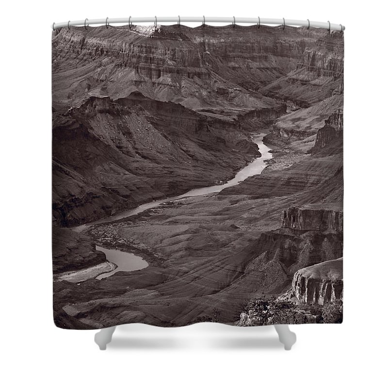 Canyon Shower Curtain featuring the photograph Colorado River At Desert View Grand Canyon by Steve Gadomski