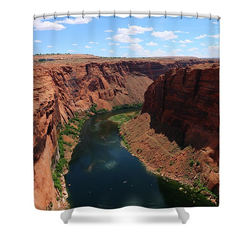 River Shower Curtain featuring the photograph Colorado River At Glen Canyon Dam by Christiane Schulze Art And Photography