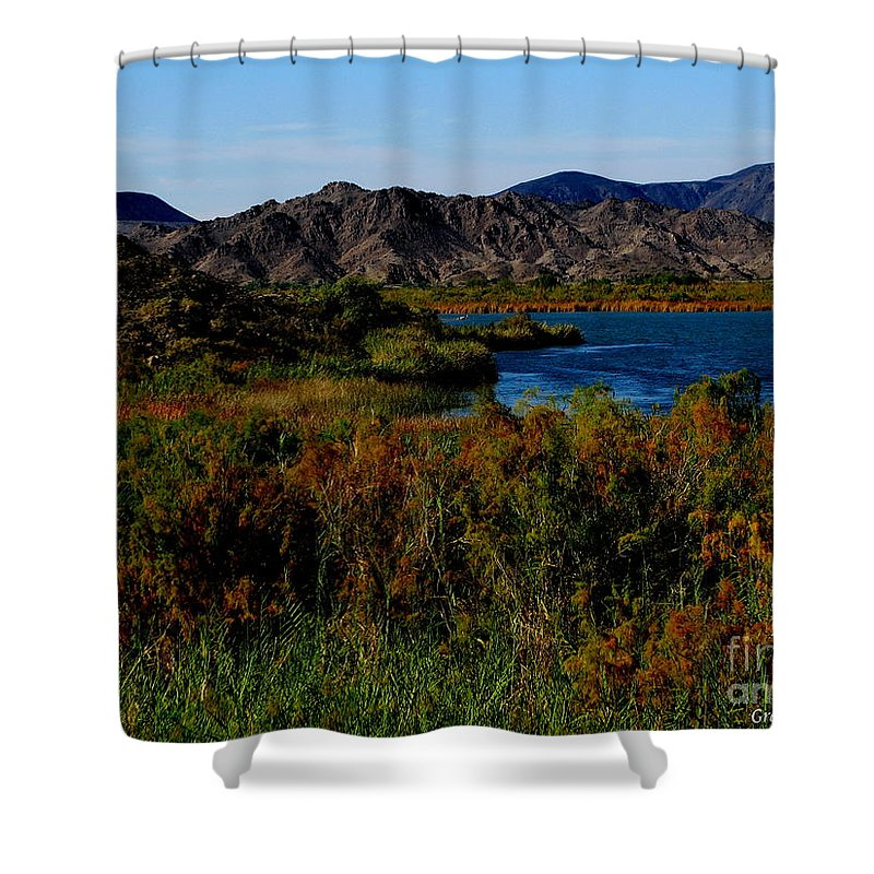 Patzer Shower Curtain featuring the photograph Colorado River by Greg Patzer