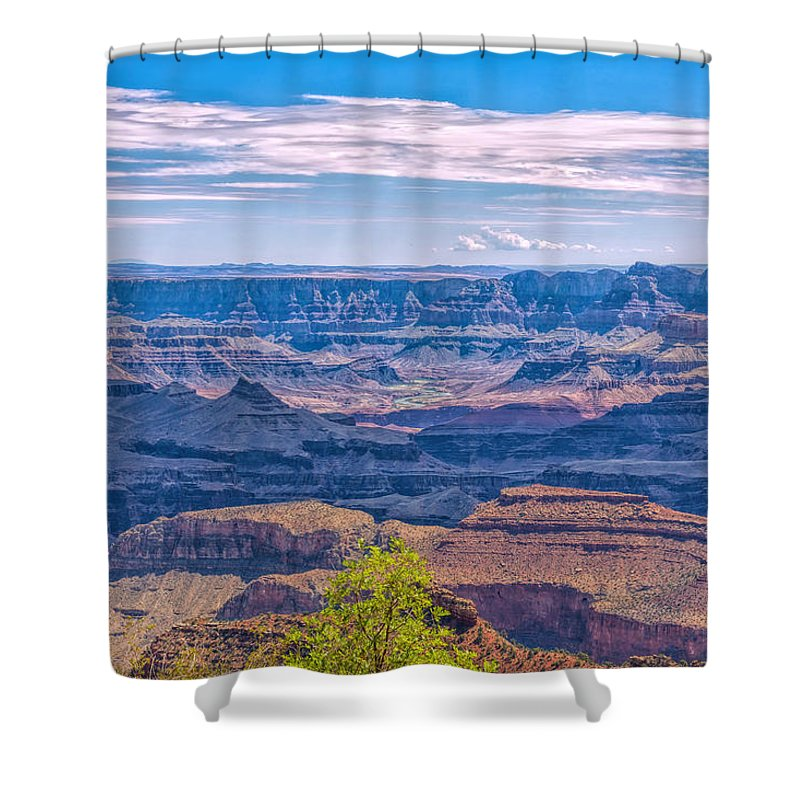 Landscape Shower Curtain featuring the photograph Colorado River In The Grand Canyon by John M Bailey