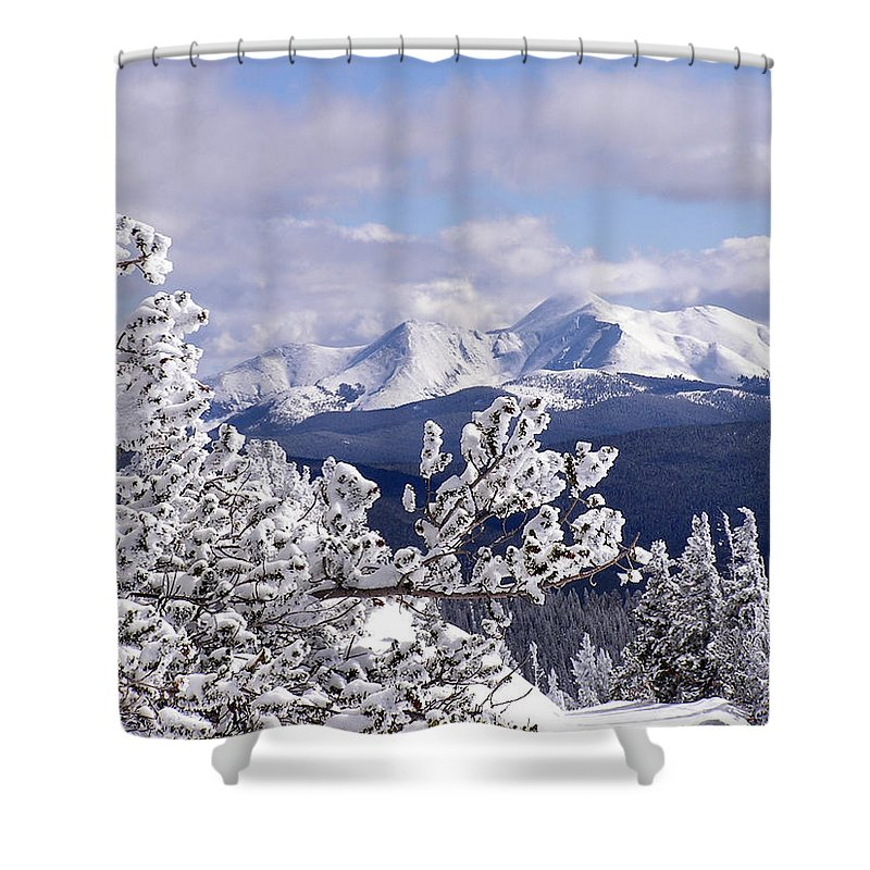 Mountains Shower Curtain featuring the photograph Colorado Sawatch Mountain Range by Carol Milisen