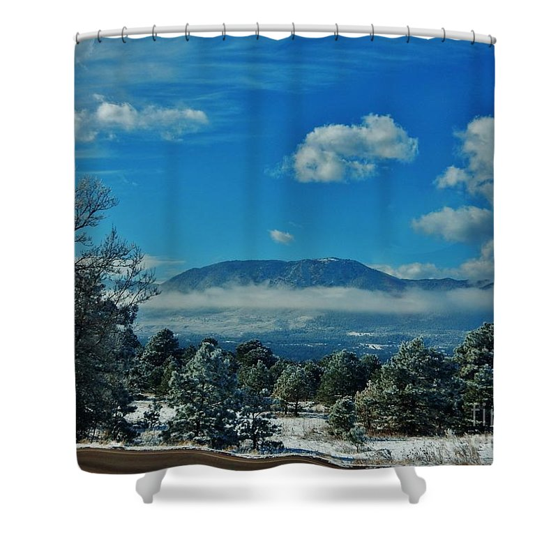Snow Shower Curtain featuring the photograph Colorado Winter by CL Redding